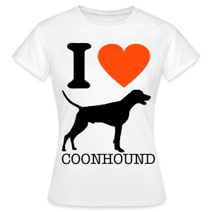 i HEART COONHOUND - Women's T-Shirt