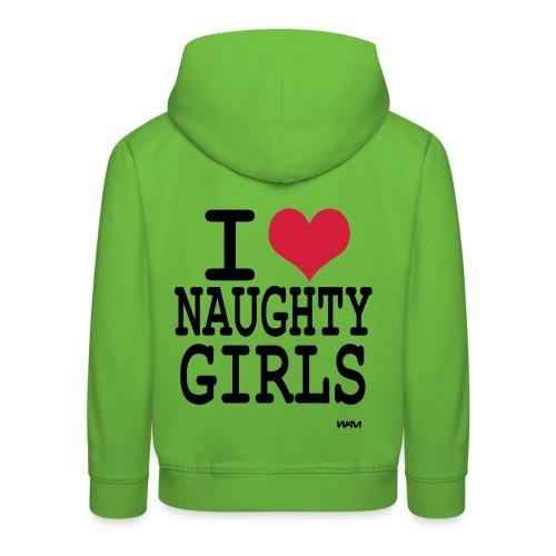 I Heart Naughty Girls Hoodie - Kids' Premium Hoodie