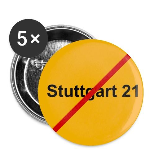 Stuttgart21 Gegner Button mittel - Buttons mittel 32 mm