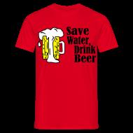 T-shirts ~ Mannen T-shirt ~ Save Beer Drink Wine