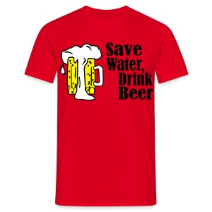 Save Beer Drink Wine - Mannen T-shirt