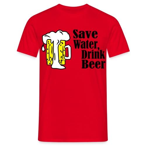 Save Beer Drink Wine - Mannen T-shirt