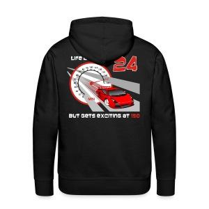 Car - Life begins at 24 - Men's Premium Hoodie