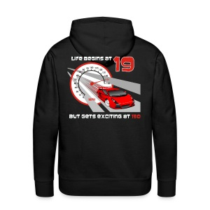 Car - Life begins at 19 - Men's Premium Hoodie