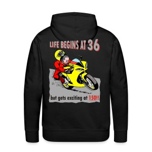 Life begins at 36 - Men's Premium Hoodie