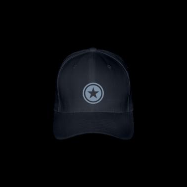 Navy star single blackcircle Caps & Hats