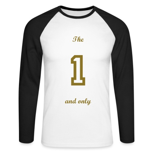 The 1 and only gold long sleeve t shirt. - Men's Long Sleeve Baseball T-Shirt