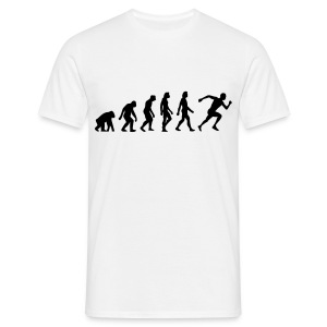 White Evolution of Running (1c) Men's T-Shirts - Men's T-Shirt