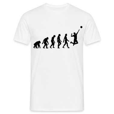Bianco Evolution of Volleyball (1c) T-shirt