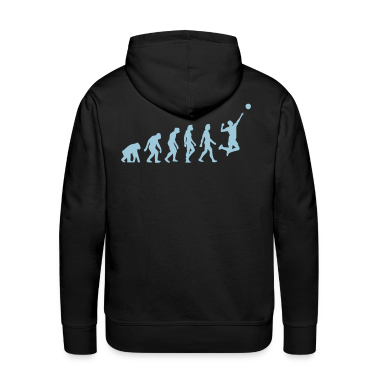 Noir Evolution of Volleyball (1c) Sweatshirts
