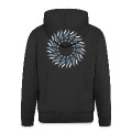 """Psyco Sun"" Men's Hooded Jacket, black"