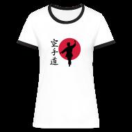 T-Shirts ~ Frauen Kontrast-T-Shirt ~ Karate