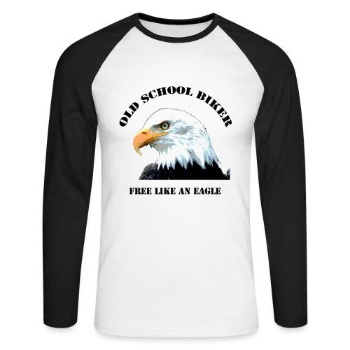 Old School Biker - Männer Baseballshirt langarm