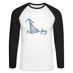 French Dog Men's Raglan Long Sleeve - Men's Long Sleeve Baseball T-Shirt