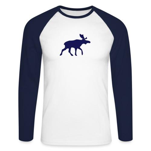 Langarm Elchshirt  - Männer Baseballshirt langarm