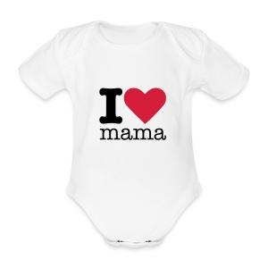 I Love mama Rompertje - Baby bio-rompertje met korte mouwen