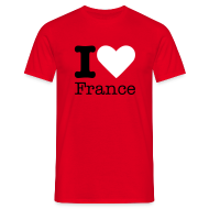 T-shirts ~ Mannen T-shirt ~ I Love France