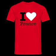T-shirts ~ Mannen T-shirt ~ I Love France