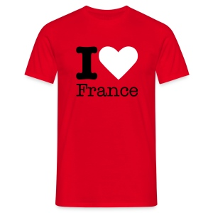 I Love France - Mannen T-shirt