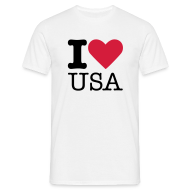 T-shirts ~ Mannen T-shirt ~ I Love USA