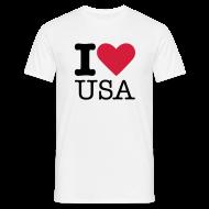 T-shirts ~ Mannen T-shirt ~ I Love USA