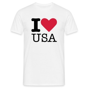 I Love USA - Mannen T-shirt