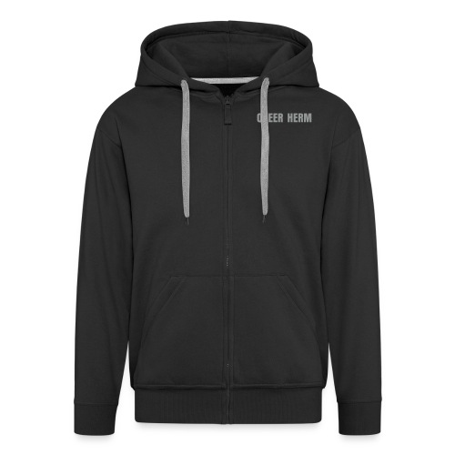 QUEER HERM SILVER Hoody - Men's Premium Hooded Jacket