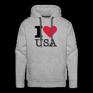 Sweaters ~ Mannen Premium hoodie ~ I Love USA