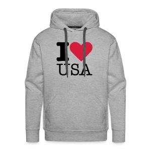 I Love USA - Mannen Premium hoodie