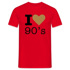 I Love 90's - Mannen T-shirt