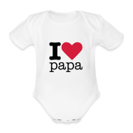 Baby body ~ Rompertje ~ I Love papa Rompertje