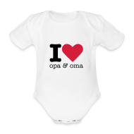 Baby body ~ Rompertje ~ I Love opa & oma Rompertje
