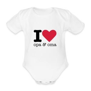 I Love opa & oma Rompertje - Baby bio-rompertje met korte mouwen