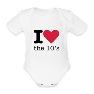 I Love the 10's Rompertje - Baby bio-rompertje met korte mouwen
