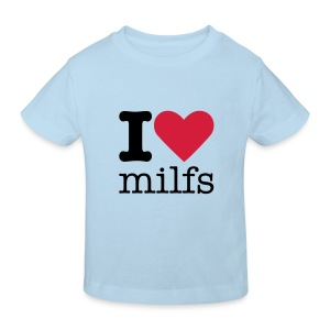 I Love Milfs Kindershirt - Kinderen Bio-T-shirt