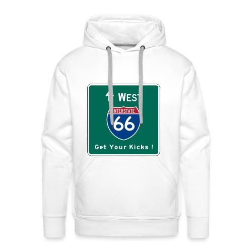Route 66 Hooded Shirt - Men's Premium Hoodie