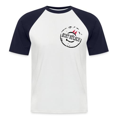 Shirt Echt Kölsch rot-weiß - Männer Baseball-T-Shirt