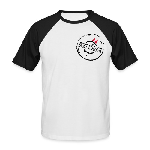 Shirt Echt Kölsch schwarz-weiß - Männer Baseball-T-Shirt