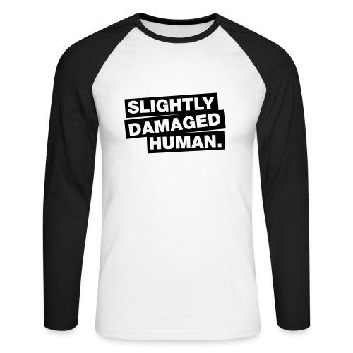 slightly damaged human - Mannen baseballshirt lange mouw