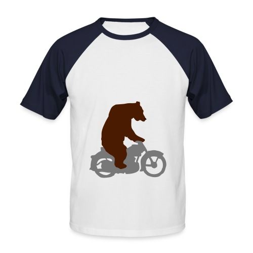 Bearly on - Men's Baseball T-Shirt
