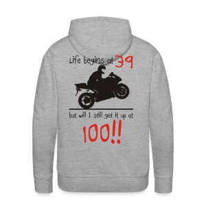 Life begins at 39 - Men's Premium Hoodie
