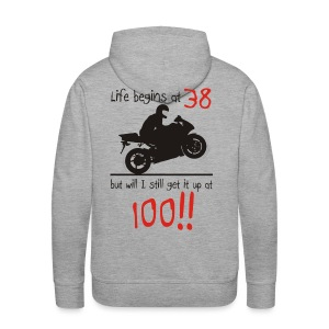 Life begins at 38 - Men's Premium Hoodie