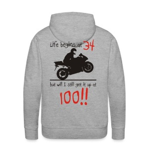 Life begins at 34 - Men's Premium Hoodie