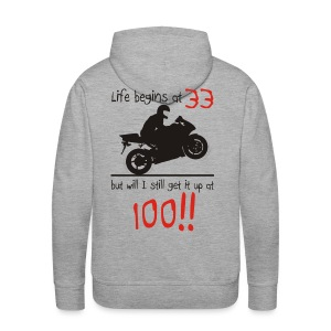 Life begins at 33 - Men's Premium Hoodie