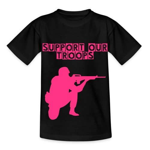 Support Our Troops Girls - Teenage T-shirt
