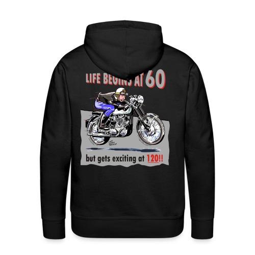 Life begins at 60 - Men's Premium Hoodie