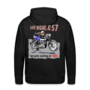 Life begins at 57 - Men's Premium Hoodie