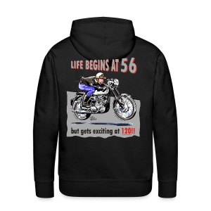 Life begins at 56 - Men's Premium Hoodie