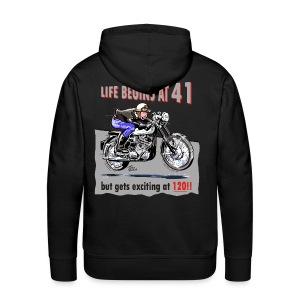 Life begins at 41 - Men's Premium Hoodie