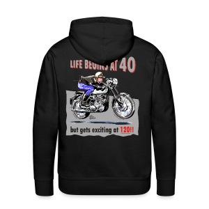 Life begins at 40 - Men's Premium Hoodie